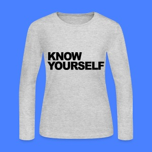 Know Yourself Long Sleeve Shirts - Women's Long Sleeve Jersey T-Shirt