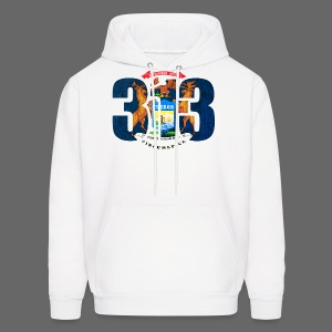 313 Michigan Mi Flag  - Men's Hoodie