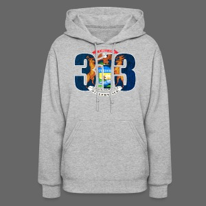 313 Michigan Mi Flag  - Women's Hoodie