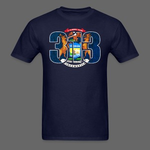 313 Michigan Mi Flag  - Men's T-Shirt