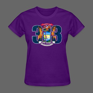 313 Michigan Mi Flag  - Women's T-Shirt
