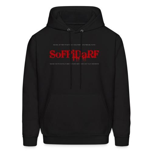 SoFPiDaRF Black Hooded Sweatshirt - Men's Hoodie
