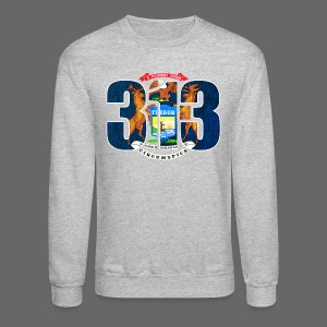 313 Michigan Mi Flag  - Crewneck Sweatshirt