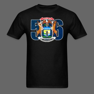 586 Michigan Flag - Men's T-Shirt
