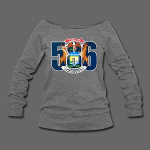 586 Michigan Flag - Women's Wideneck Sweatshirt
