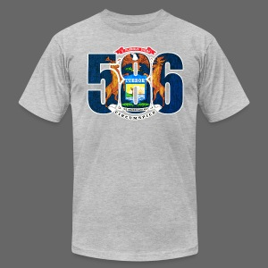 586 Michigan Flag - Men's T-Shirt by American Apparel