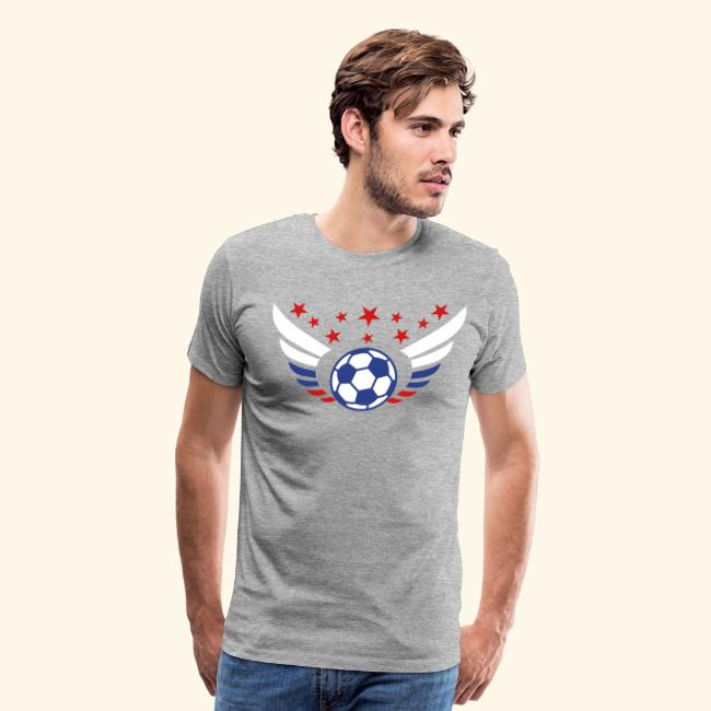 finest selection e9b0b 1893c Football soccer Futbol Wings Star Russia USSR men's Fan T-Shirt | Men's  Premium T-Shirt