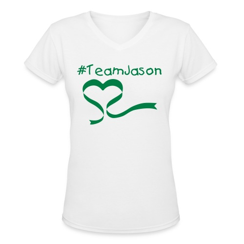 #TeamJason Tee - Women's V-Neck T-Shirt