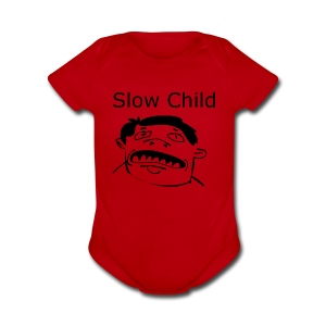 Slow child - Short Sleeve Baby Bodysuit