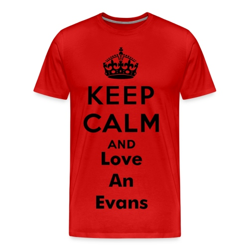 Keep Calm Evans Signature T-Shirt - Men's Premium T-Shirt