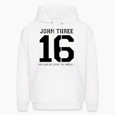 John Three 16, For God So Loved The World Hoodies