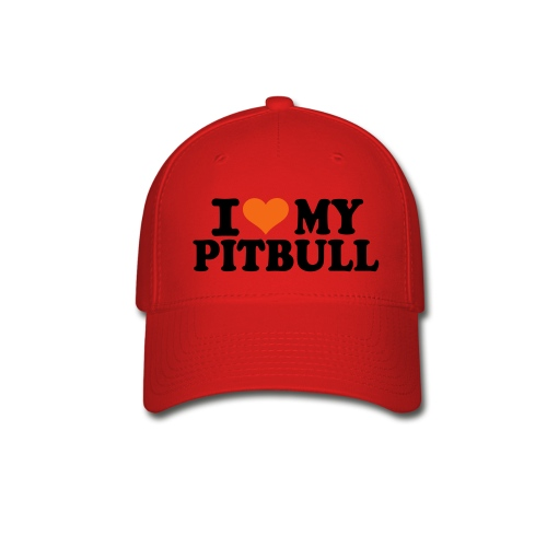 Red i Love my Pitbull Hat - Baseball Cap