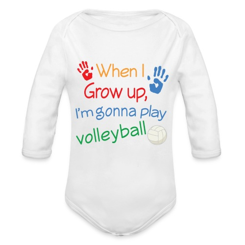 Future Player One Piece - Organic Long Sleeve Baby Bodysuit