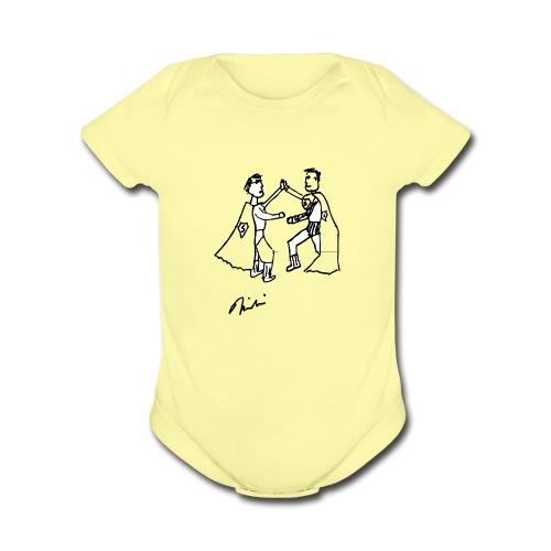 Nikolai   - Hollywood Blvd Superman Meeting - Organic Short Sleeve Baby Bodysuit