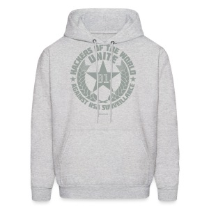 Hackers of the world unite!  - Men's Hoodie
