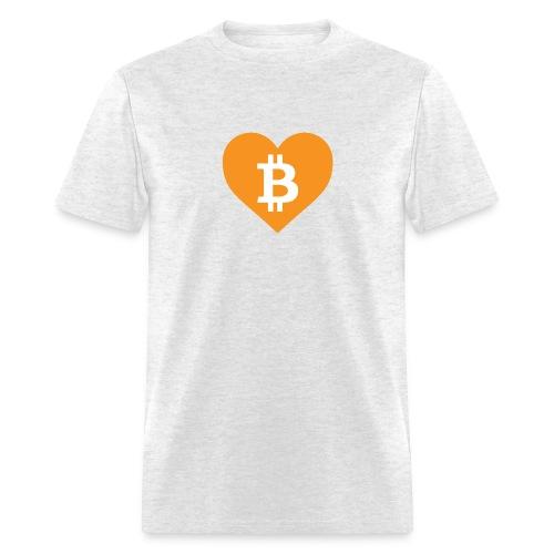 Bitcoin Love - Men's T-Shirt
