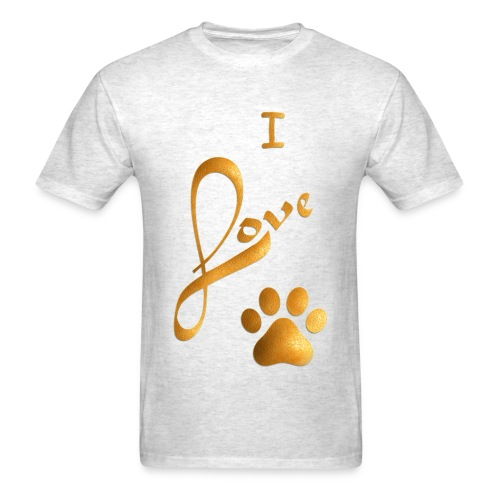 I LOVE PAW - Men's T-Shirt