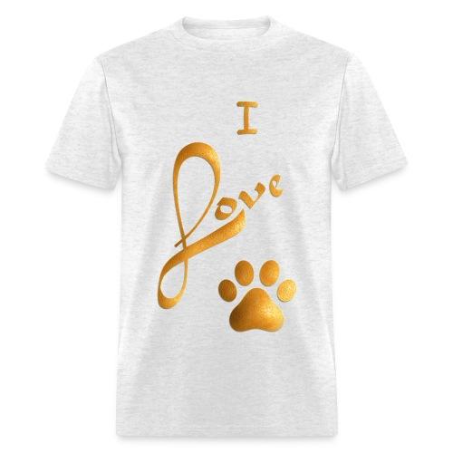 I LOVE PAW - Men's T-Shirt