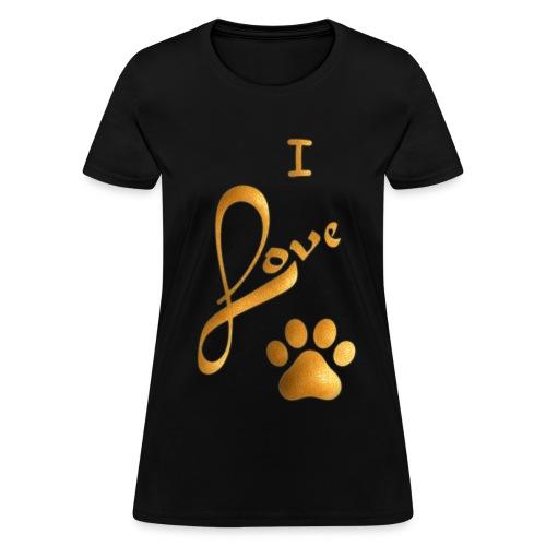 I LOVE PAW - Women's T-Shirt