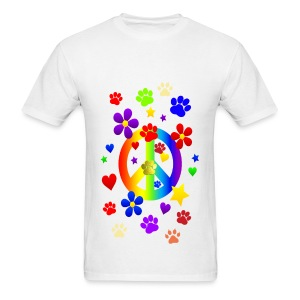 PEACE SIGN & PAWS - Men's T-Shirt