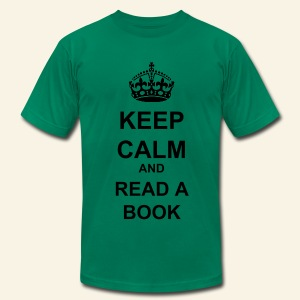 Keep Calm and Read a Book - Men's T-Shirt by American Apparel