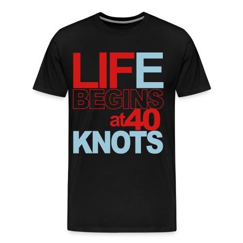 LIFE BEGINS - Men's Premium T-Shirt