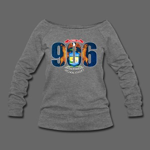 906 Michigan Flag - Women's Wideneck Sweatshirt