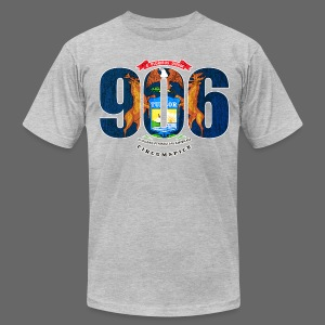 906 Michigan Flag - Men's T-Shirt by American Apparel