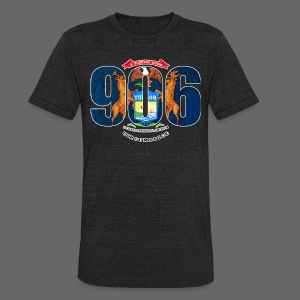 906 Michigan Flag - Unisex Tri-Blend T-Shirt by American Apparel