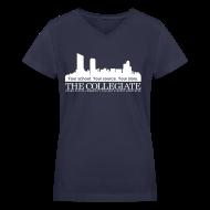 Women's T-Shirts ~ Women's V-Neck T-Shirt ~ Collegiate Women's V-neck Light