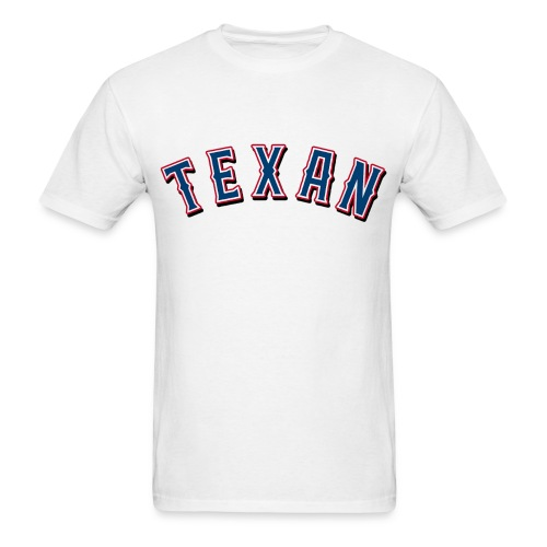 Texan on White - Men's T-Shirt