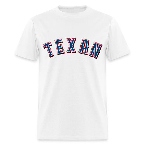 Texan on White - Men's T-Shirt