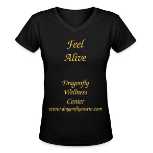 Feel Alive Women - Women's V-Neck T-Shirt