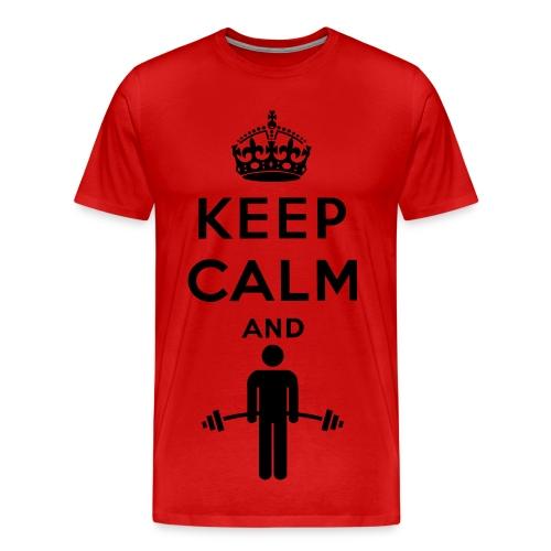 Keep Calm And Lift T-Shirt (CranivyHD) - Men's Premium T-Shirt