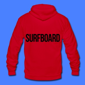 Surfboard Zip Hoodies & Jackets - Unisex Fleece Zip Hoodie by American Apparel