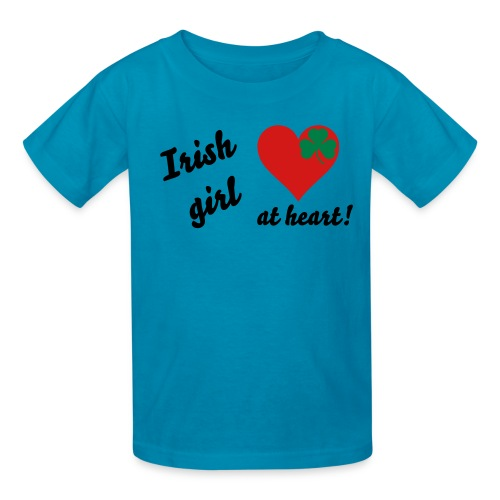 Irish girl at heart! Kids' T-shirt - Kids' T-Shirt