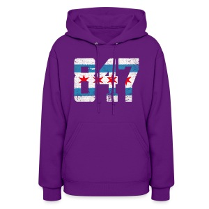 847 Chicago Flag - Women's Hoodie