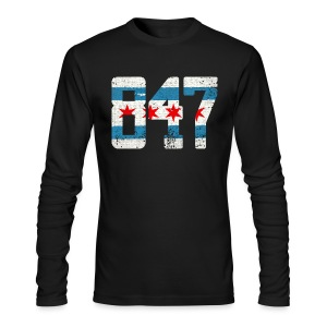 847 Chicago Flag - Men's Long Sleeve T-Shirt by Next Level