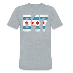 847 Chicago Flag - Unisex Tri-Blend T-Shirt