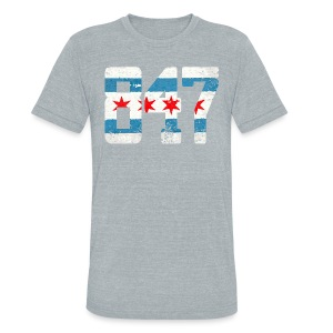 847 Chicago Flag - Unisex Tri-Blend T-Shirt by American Apparel