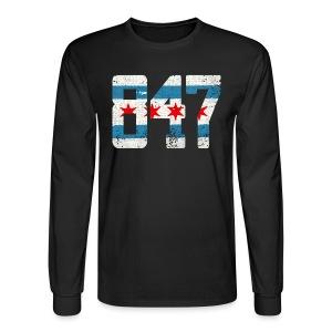 847 Chicago Flag - Men's Long Sleeve T-Shirt