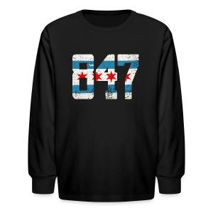 847 Chicago Flag - Kids' Long Sleeve T-Shirt