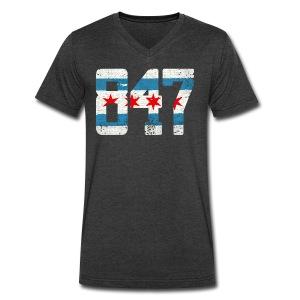847 Chicago Flag - Men's V-Neck T-Shirt by Canvas