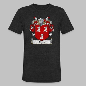 Ryan Family Crest - Unisex Tri-Blend T-Shirt by American Apparel