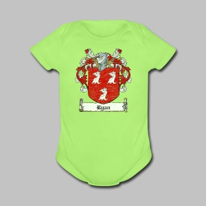 Ryan Family Crest - Short Sleeve Baby Bodysuit