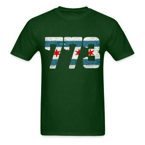 773 Chicago Flag - Men's T-Shirt