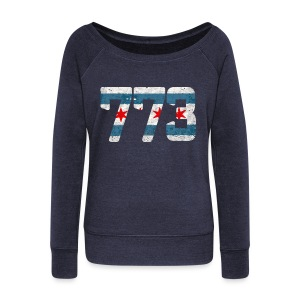 773 Chicago Flag - Women's Wideneck Sweatshirt