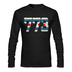 773 Chicago Flag - Men's Long Sleeve T-Shirt by Next Level