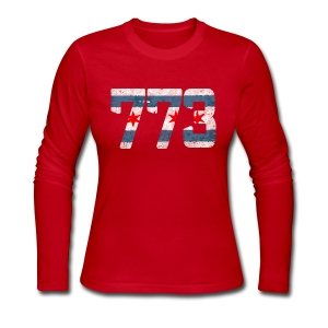 773 Chicago Flag - Women's Long Sleeve Jersey T-Shirt
