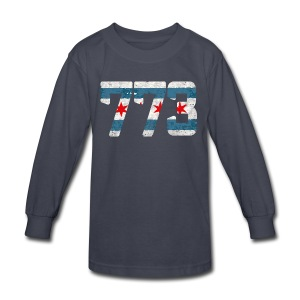 773 Chicago Flag - Kids' Long Sleeve T-Shirt